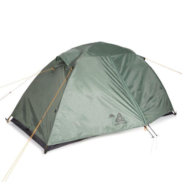BATTUTA 2 Personer backpacker telt Trespass olivengrøn