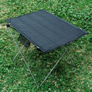 Lome Camping - Bord med aluminium stel - 56 x 42 x 37cm - Sølv