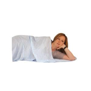 TravelSafe Sleepingbag Inlet Micro Fiber Mummy - Lagenpose - Hvid